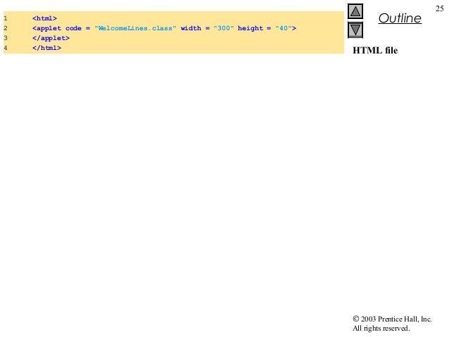 Drawing Lines In Java Applet : Java applets