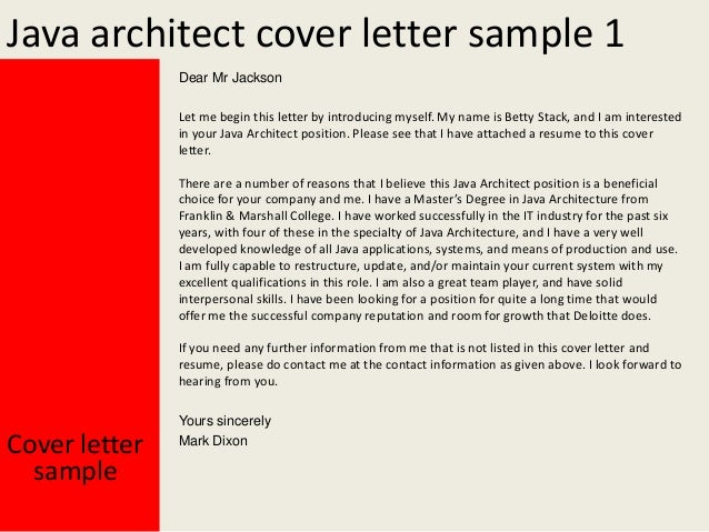 Nice Java Architect Cover Letter ...