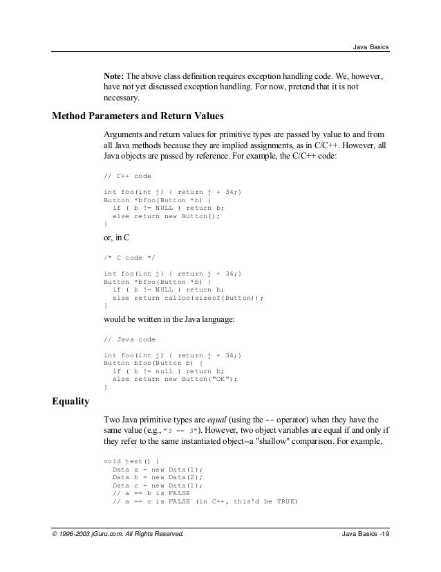 java programming basics notes for beginners java programming tutorial  java