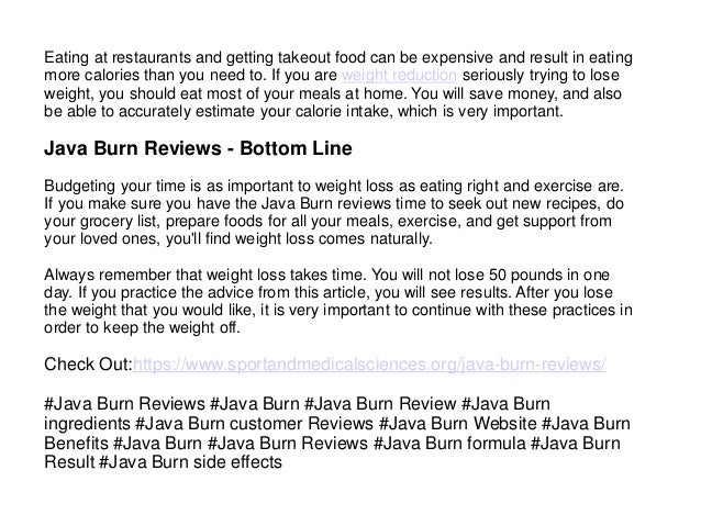 Java Burn Reviews - How Does it Promote Natural Weight Loss? Paid Content Cleveland Cleveland Scene