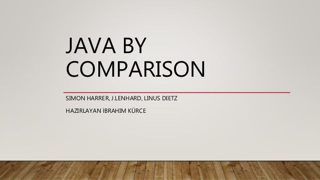 JAVA BY COMPARISON SIMON HARRER, J.LENHARD, LINUS DIETZ HAZIRLAYAN İBRAHIM KÜRCE
