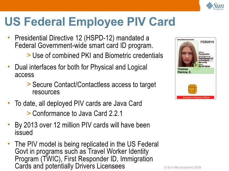 Id Java Using Platform Card Government Citizen