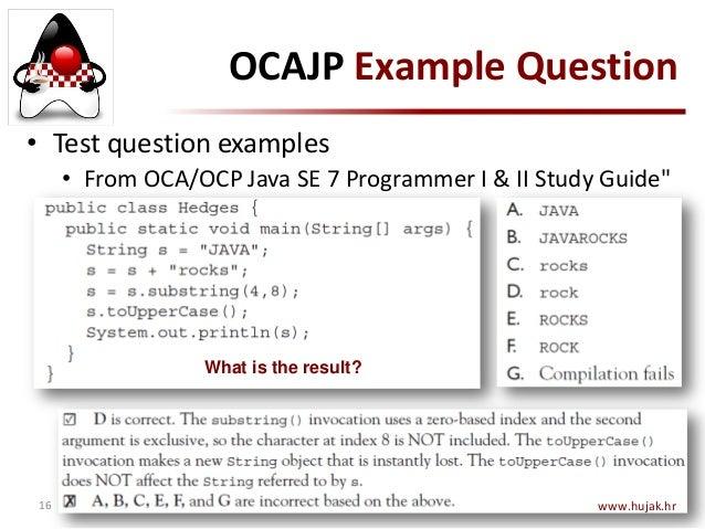 Oca Java Se 7 Programmer I Study Guide Pdf