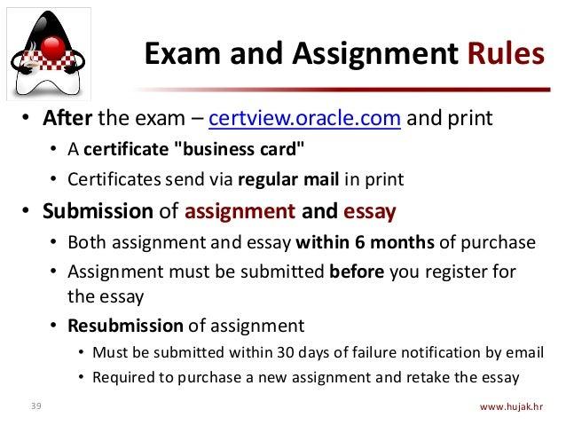 java essay exam