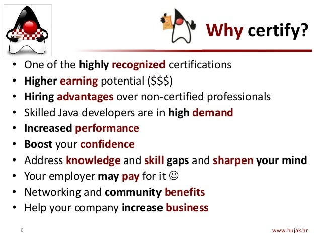 Java Certification by HUJAK - 2015-05-12 - at JavaCro\'15 conference