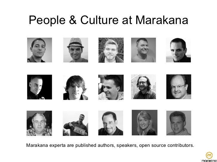 People & Culture at MarakanaMarakana experta are published authors, speakers, open source contributors.