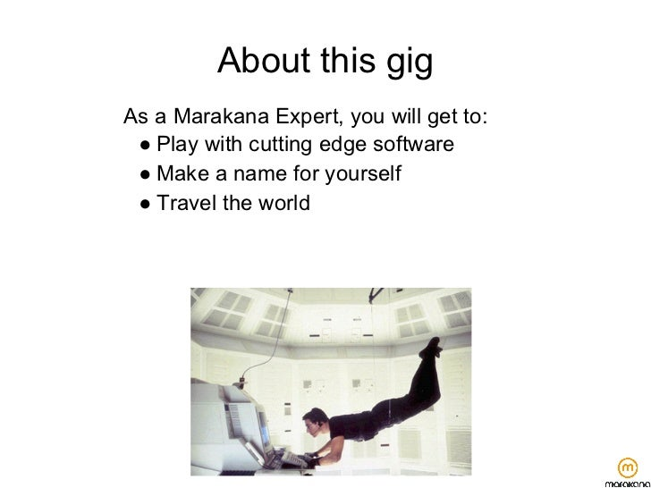 About this gigAs a Marakana Expert, you will get to: ● Play with cutting edge software ● Make a name for yourself ● Travel...