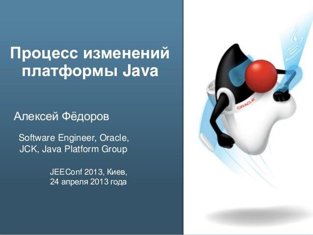 Процесс изменения платформы Java Slide 2