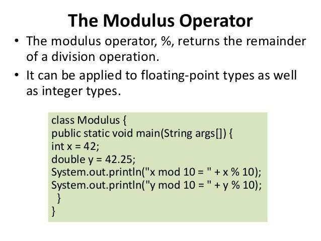 java modulo operator example