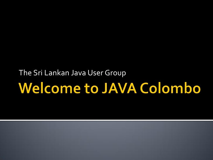 The Sri Lankan Java User Group