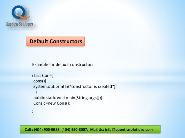 how to call other constructors from a constructor java
