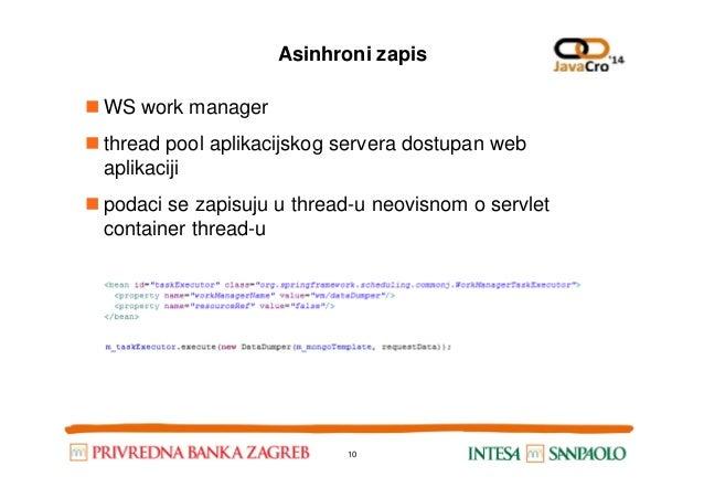 Asinhroni zapis WS work manager thread pool aplikacijskog servera dostupan web aplikaciji podaci se zapisuju u thread-u ne...
