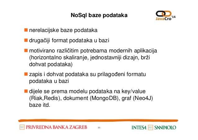 NoSql baze podataka nerelacijske baze podataka drugačiji format podataka u bazi motivirano različitim potrebama modernih a...