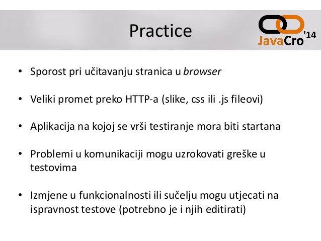 Practice • Sporost pri učitavanju stranica u browser • Veliki promet preko HTTP-a (slike, css ili .js fileovi) • Aplikacij...
