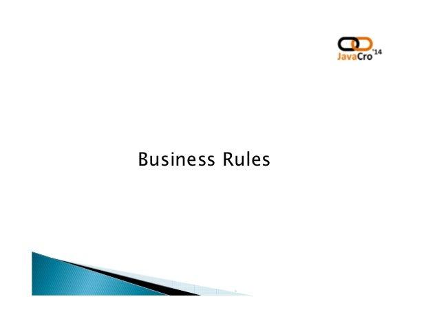 JavaCro'14 - Drools Decision tables – form of human-readable rules – Dragan Juričić Slide 3