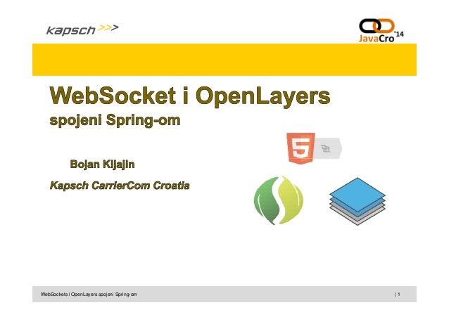 | 1WebSockets i OpenLayers spojeni Spring-om