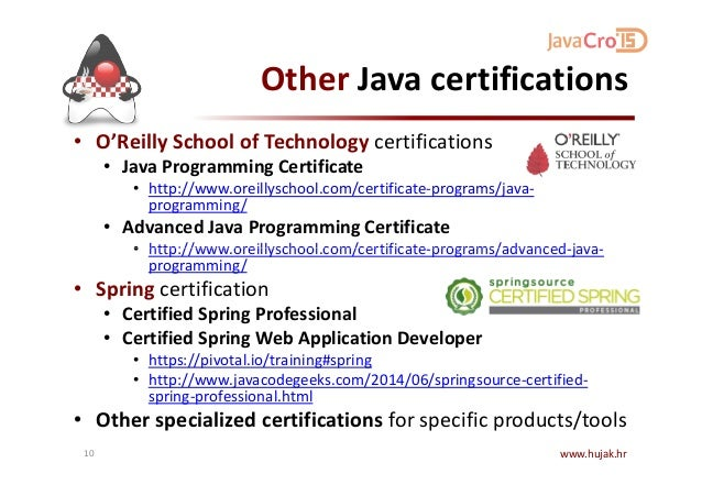 JavaCro\'15 - Java Certification – in theory and practice - Branko Mih…