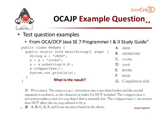 java certification sample questions pdf