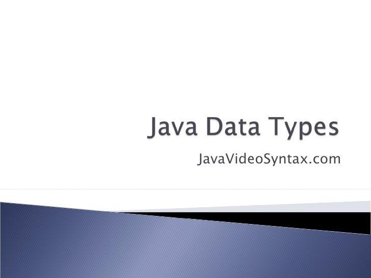 JavaVideoSyntax.com