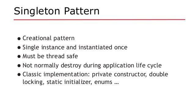 Java EE Revisits Design Patterns Simple Singleton Pattern In Java