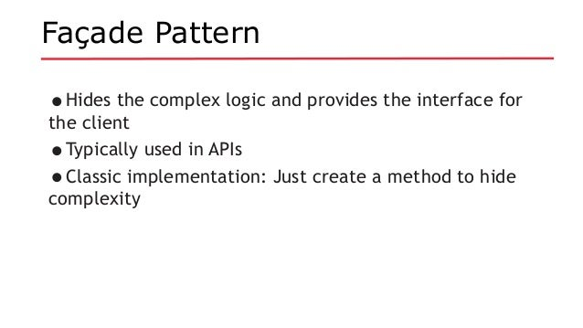 Java EE Revisits Design Patterns Gorgeous Facade Pattern Java
