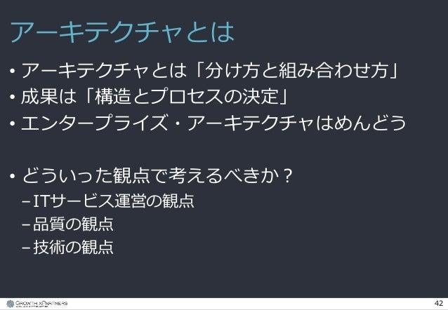 エンタープライズ・アーキテクチャの選択について - JavaDay Tokyo 2015