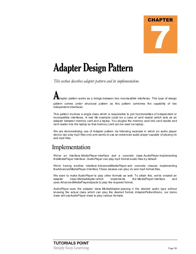 Java design pattern tutorial