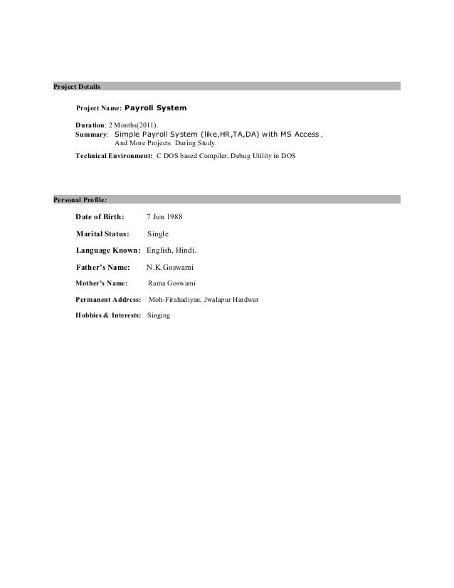 java developer resume 1