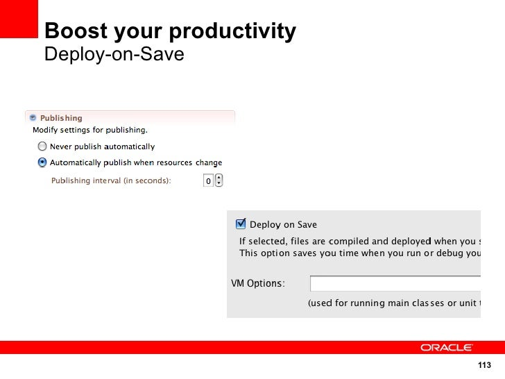 Boost your productivity Deploy-on-Save                               113
