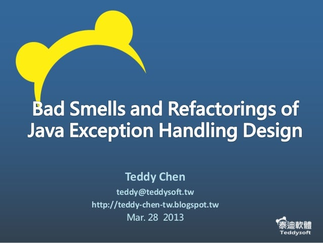 Teddy Chenteddy@teddysoft.twhttp://teddy-chen-tw.blogspot.twMar. 28 2013