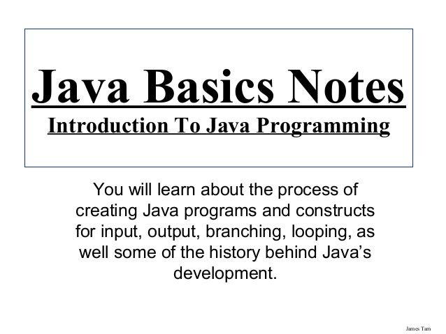 Java essential notes
