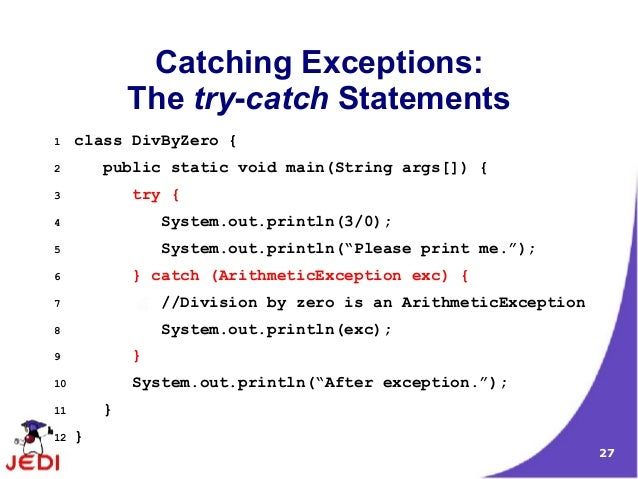 try catch exception