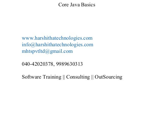 Core Java Basics