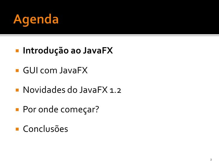 JavaFX 1.2 Slide 2