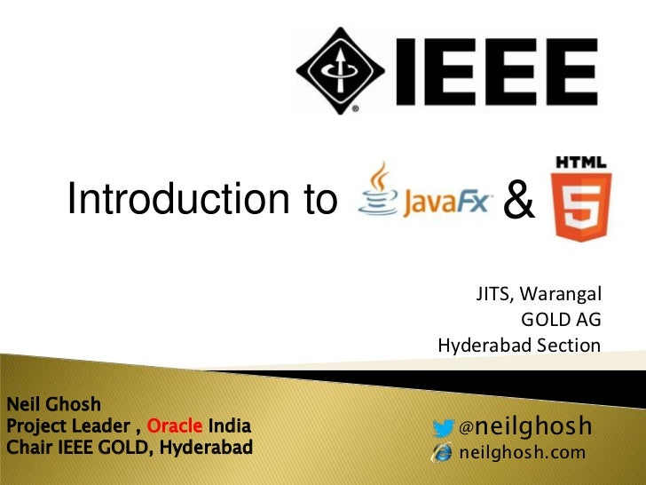 Introduction to                 &                                   JITS, Warangal                                        ...