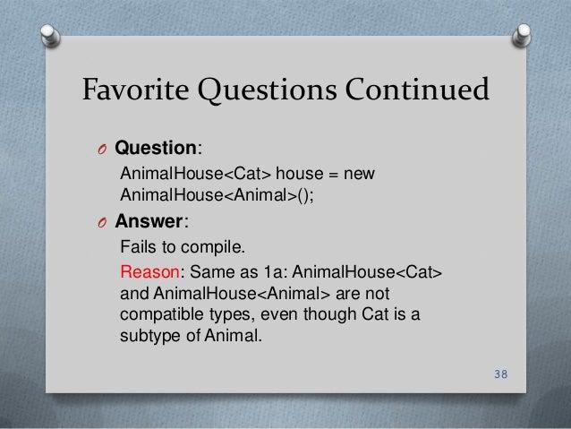 Generics Animal Dog Cat Compile