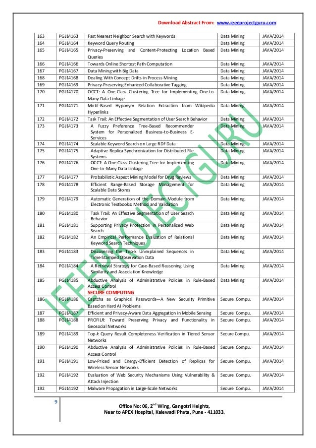 Final year ieee engineering java project guidance training pune 10 ccuart Images