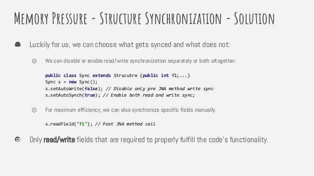 Memory Pressure - Structure Synchronization - Solution Luckily for us, we can choose what gets synced and what does not: ⏣...