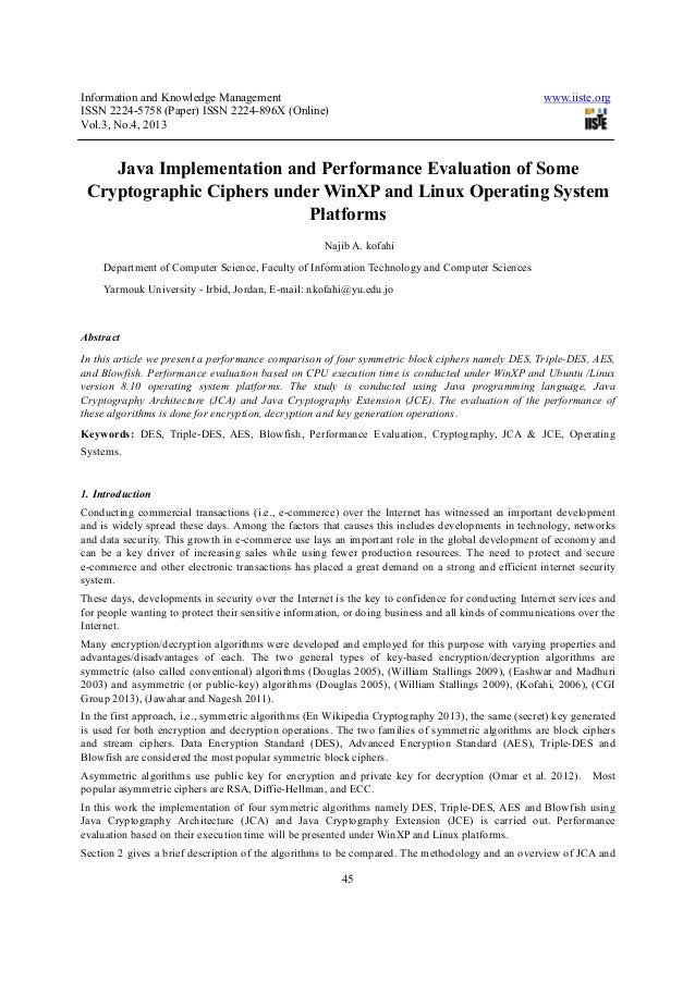 Information and Knowledge Management www.iiste.orgISSN 2224-5758 (Paper) ISSN 2224-896X (Online)Vol.3, No.4, 201345Java Im...