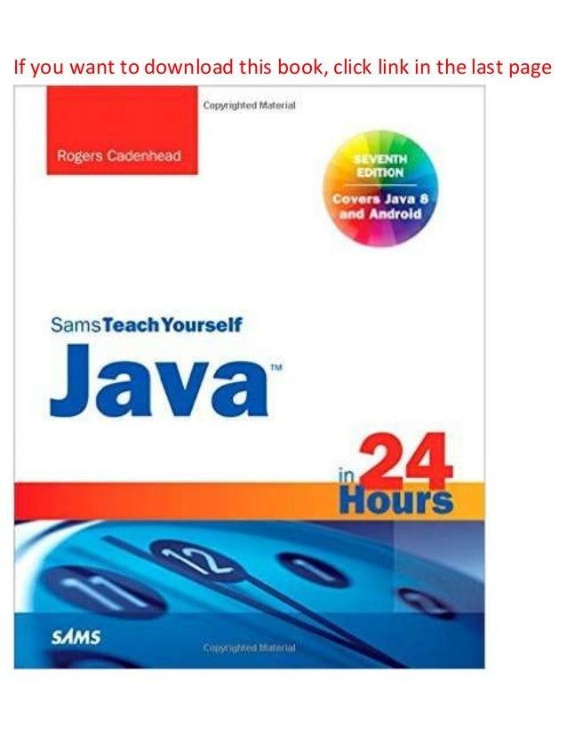 Sams teach yourself java 2 in 24 hours: cadenhead: 9780877785200.
