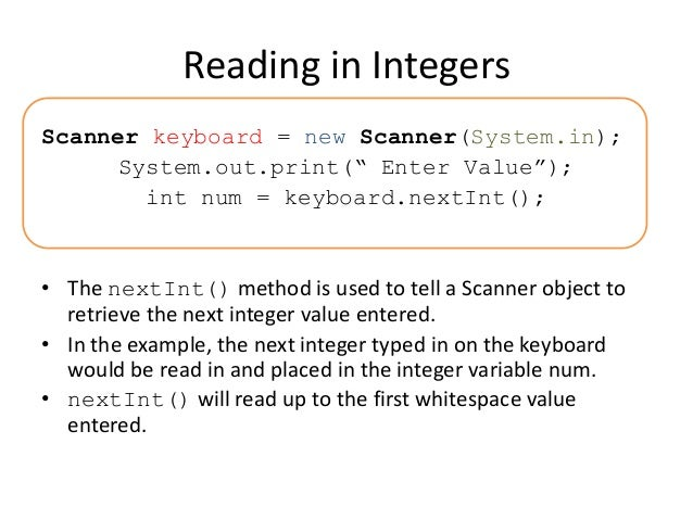 read files with the scanner object An image scanner—often abbreviated to just scanner, although the term is  ambiguous out of  modern color drum scanners use three matched pmts,  which read red, blue, and  planetary scanners scan a delicate object without  physical contact  the size of the file created increases with the square of the  resolution.