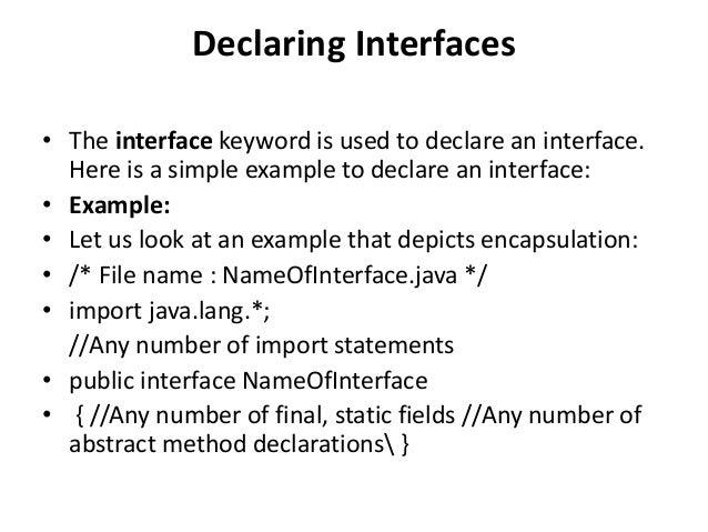 Java interfaces