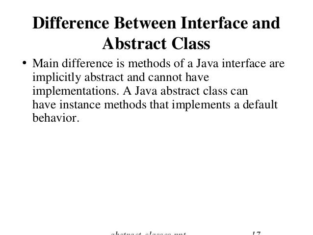 interface classes How to create interfaces and implement them in classes.