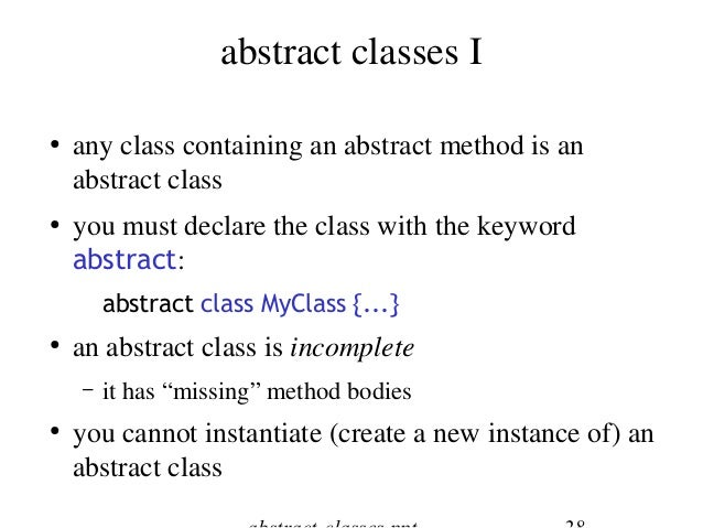 java interfaces  u0026 abstract classes