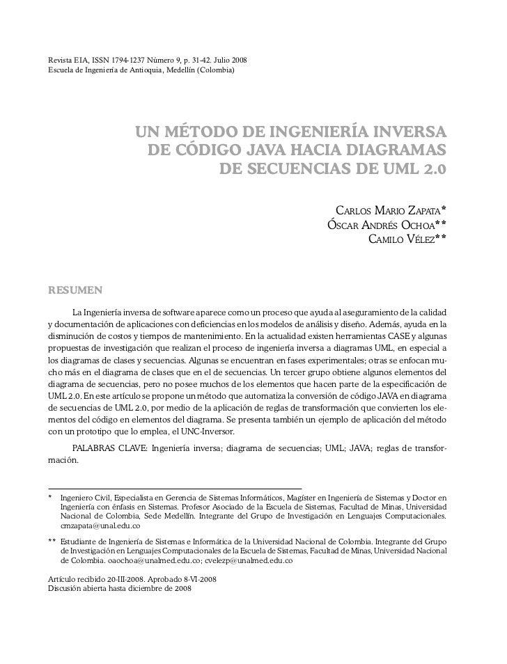 Revista EIA, ISSN 1794-1237 Número 9, p. 31-42. Julio 2008Escuela de Ingeniería de Antioquia, Medellín (Colombia)         ...