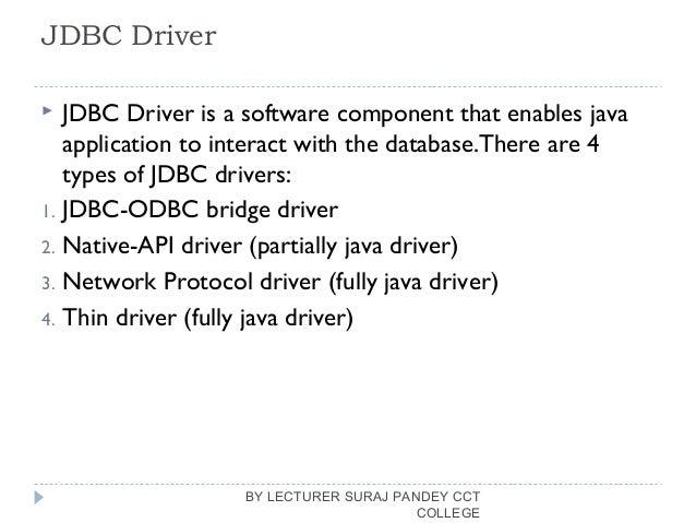 Basic Java Database Connectivity(JDBC)