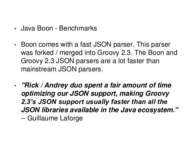 Java JSON Benchmark