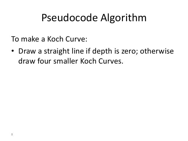 Line Drawing Algorithm Java : Java koch curves