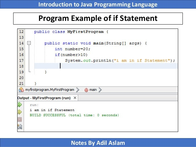 Introduction To Java Programming Lecture No  3
