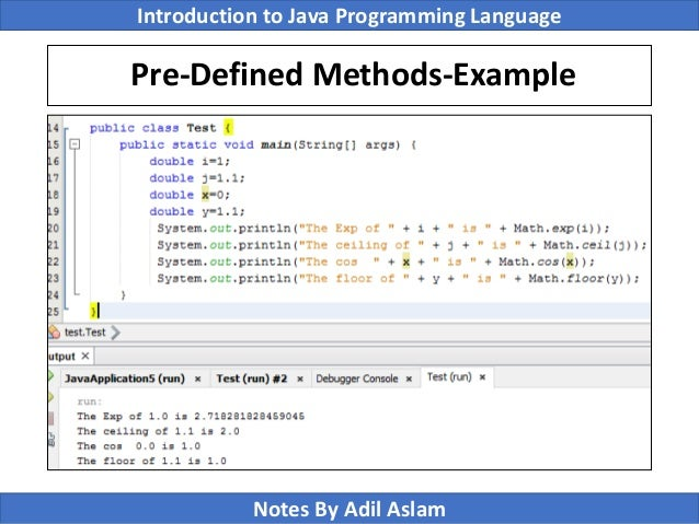 Introduction To Java Programming Lecture No 5